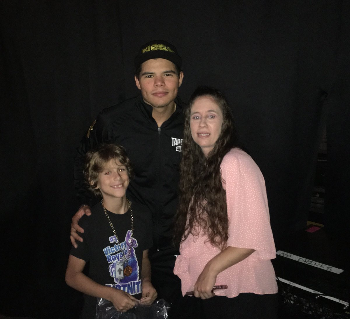 Congrats to our #NXTStPetersburg Fan of the Night @latashahoberg35 who got to meet #205Live Superstar @humberto_wwe!