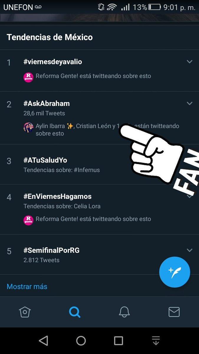 ¡Ya hemos subido de puesto, somos el número dos en México!❤ @AbrahamMateo #AskAbraham