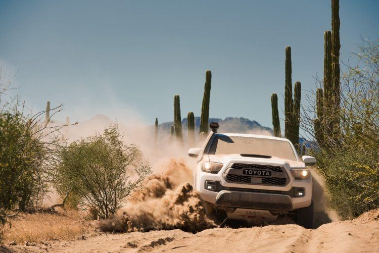 Off-roading with effortless results. The @Toyota Tacoma TRD Pro http://ow.ly/zvv730oJ9U5