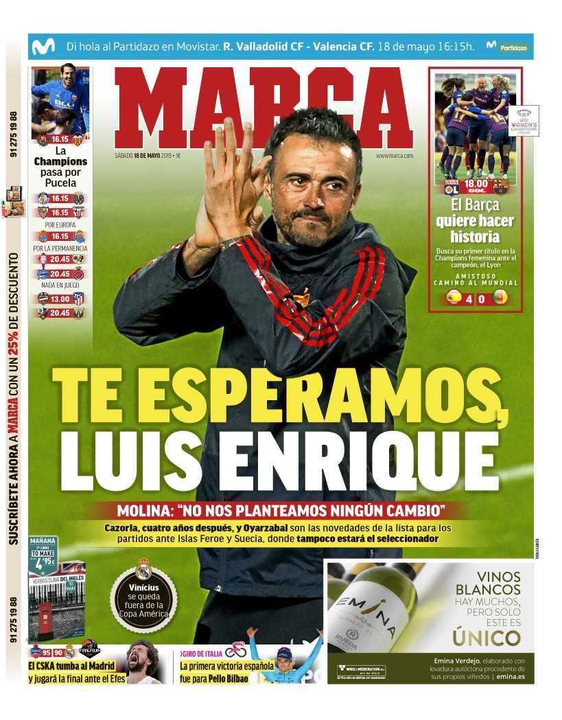 Radio MARCA's photo on Luis Enrique