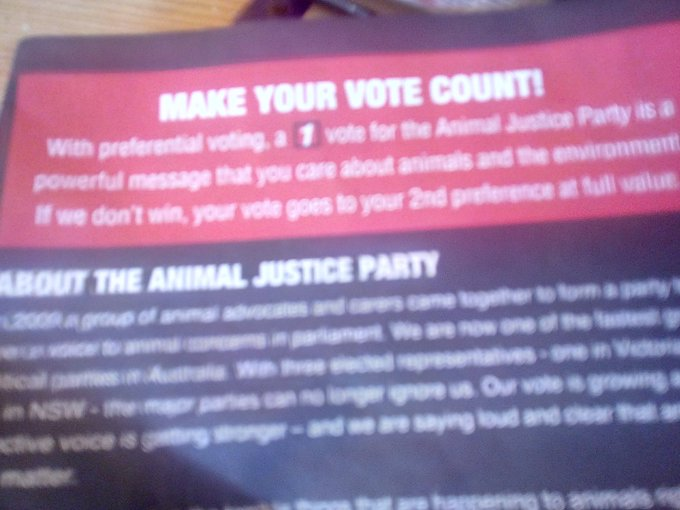 Animal Justice Party Photo