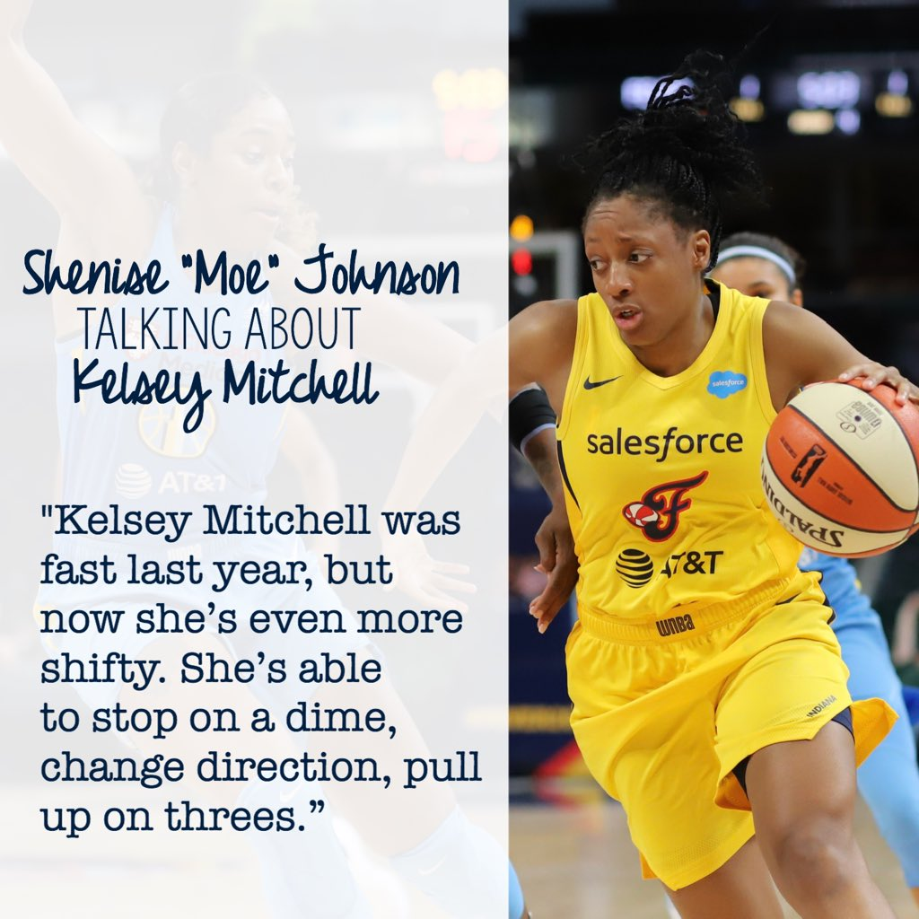 @SheniseJ42 talking about @Kelz_Hoop.  Image from Friday's @indianafever game against the @chicagosky.  #allforlove #fever20
