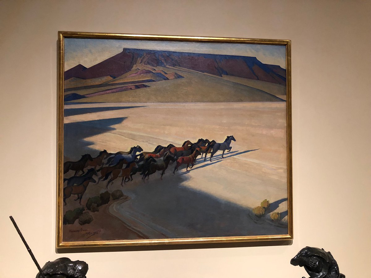 Wild Horses of Nevada by Maynard Dixon - Brandon