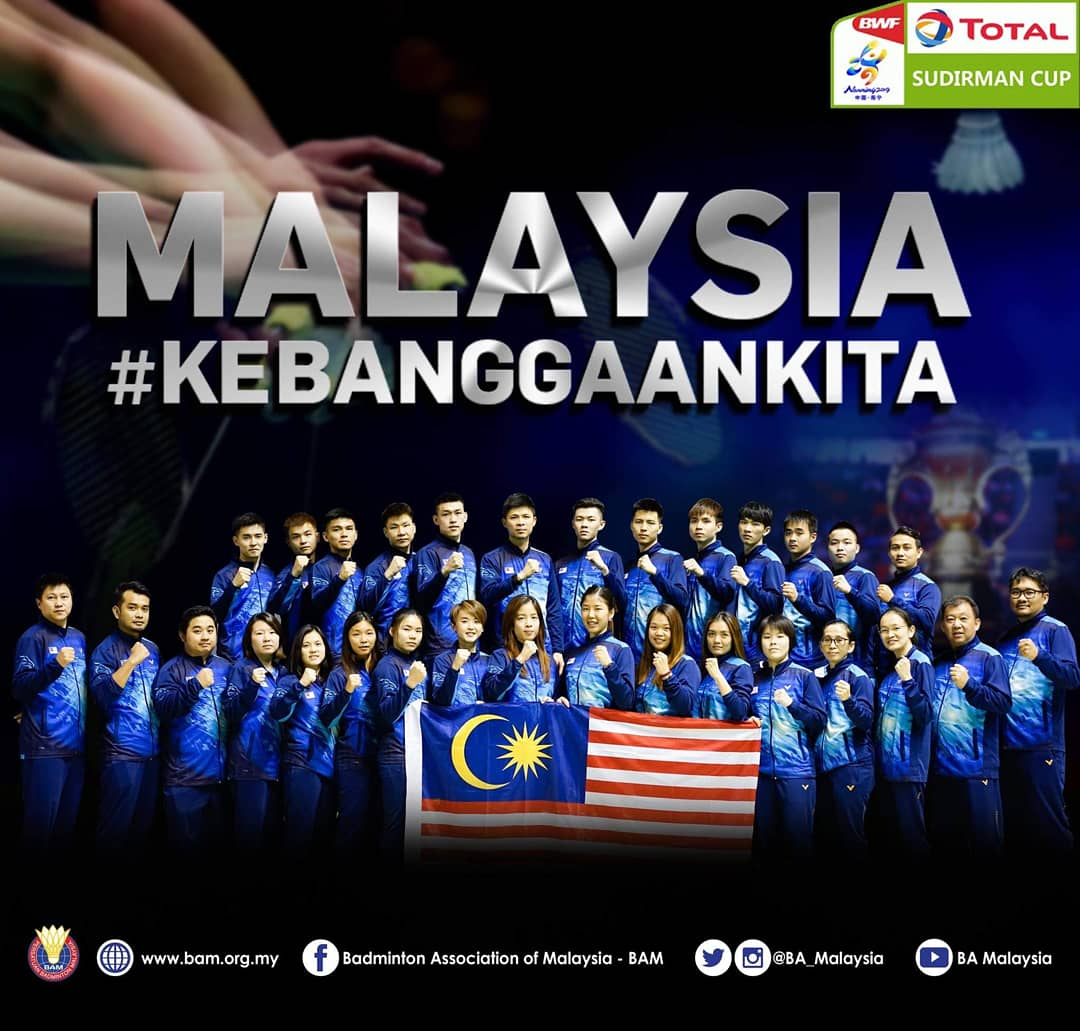 We are sending a relatively young team for the Sudirman Cup this year . We are certainly the underdogs but I believe this team is no pushovers . Boys and girls , believe in yourself . Think about the best game you have ever played  .  Malaysia Boleh ! 🇲🇾