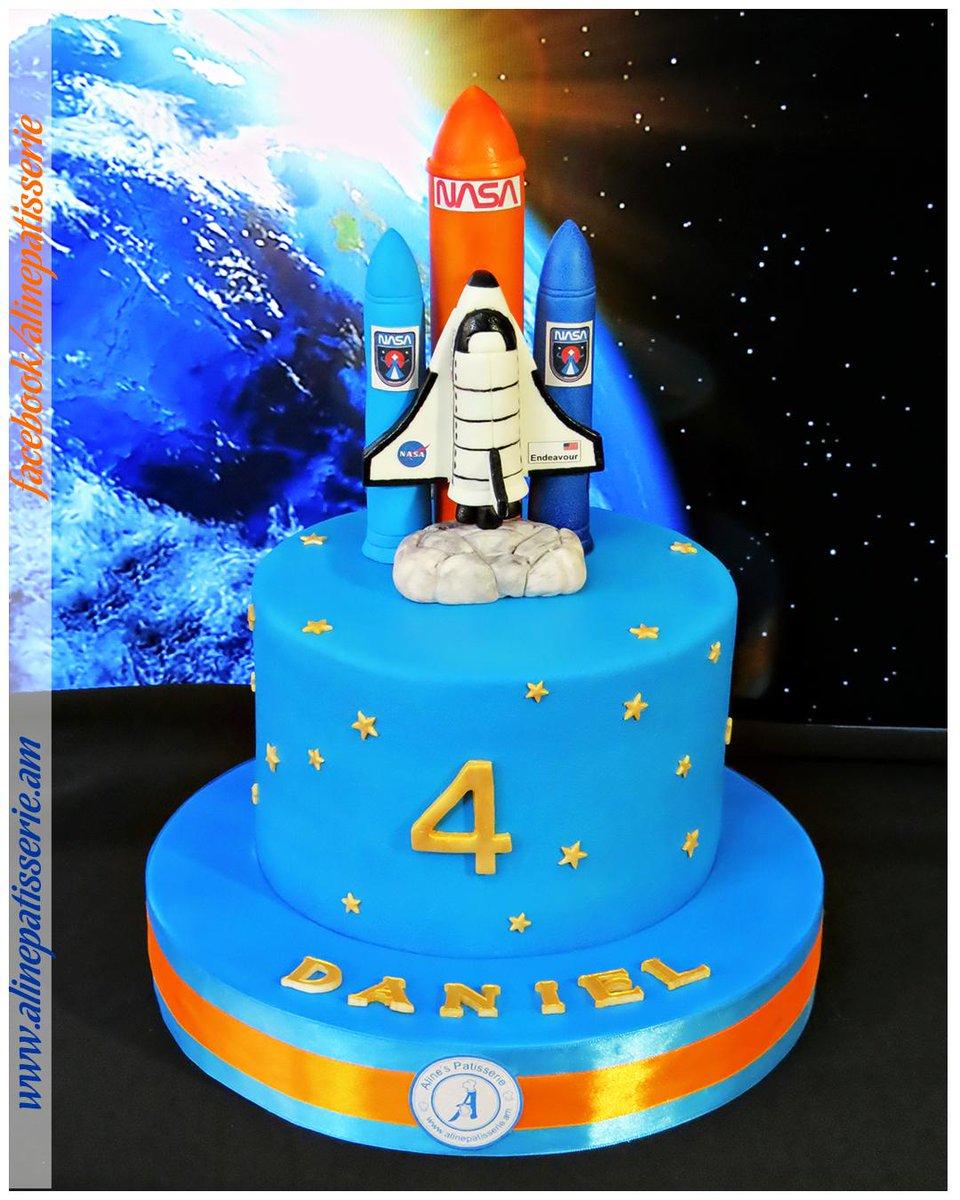 Prime Alines Patisserie On Twitter Nasa Endeavour Space Shuttle Personalised Birthday Cards Vishlily Jamesorg