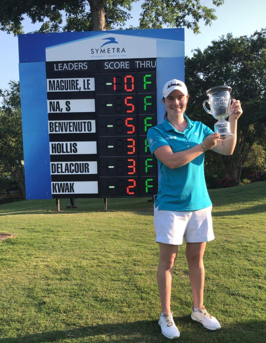 She's done it again and I couldn't be happier!! 2nd win on @ROAD2LPGA this season for @leona_maguire . This girl is a born winner 🏆