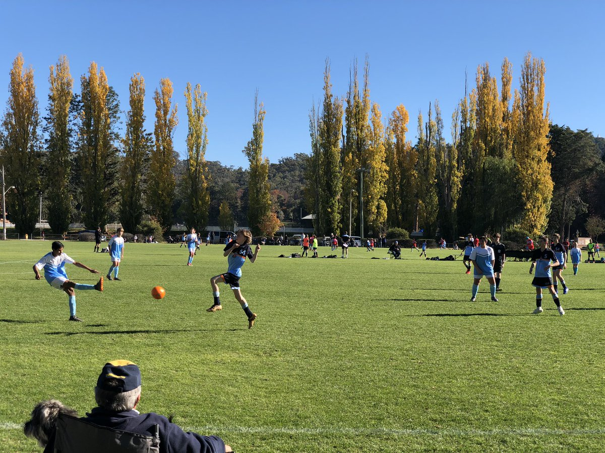 How good is this? @CanberraGrammar Football flourishing on ovals across the School. Great to see the sport thriving with so many players and spectators. Spectacular Canberra Autumn backdrop too!