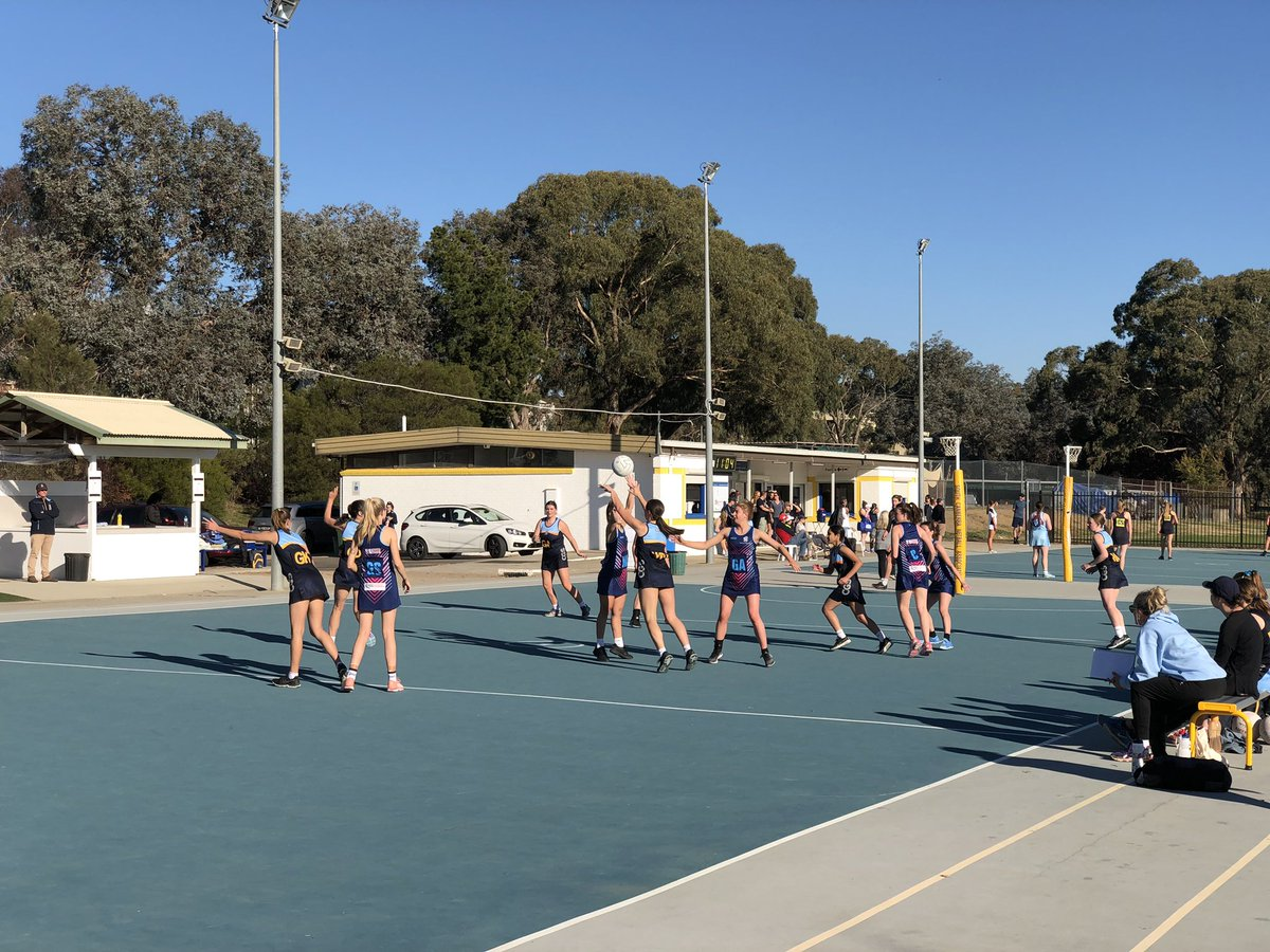 Another big sporting day at @CanberraGrammar. Great to catch some Netball, Rugby and Football this afternoon to work of those democracy sausages.