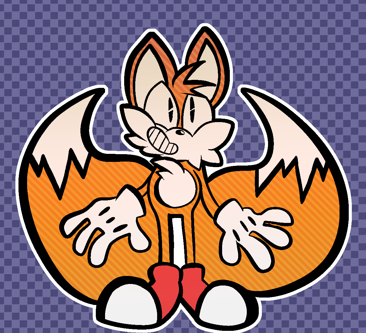Tails! I&#39;m really proud of this one by a longshot, even if it&#39;s just a flat right now. Hopefully @NaotoOhshima Approves!<br>http://pic.twitter.com/xPtiIIposM