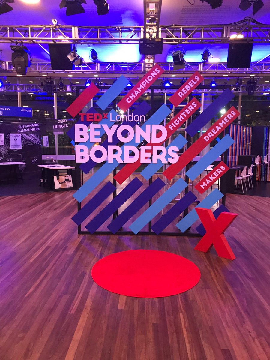 Give me a shout if your at @tedxlondon today! I'm excited to be part of the #TEDxLondonTribe supporting this event. Come by the #CitixLab and say hi 👋 #BeyondBorders