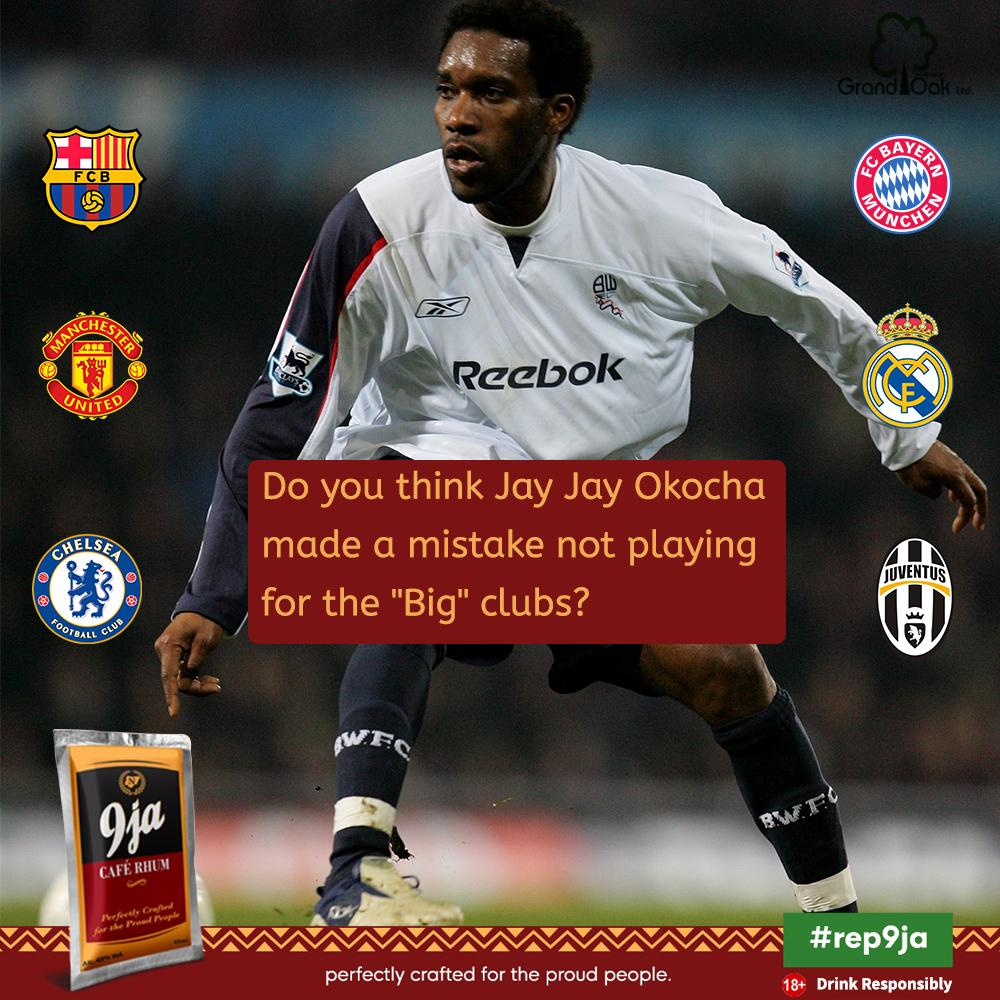 One of Nigeria and Africa's best, Okocha has proven himself so many times and will be remembered for all time. So why did he turn down opportunities to play in big clubs like Barcelona, Manchester United and others like it? #9jaFootball #9jaCafe #9jaCafeRhum #9jaFootball pic.twitter.com/SBJgPXrXu5