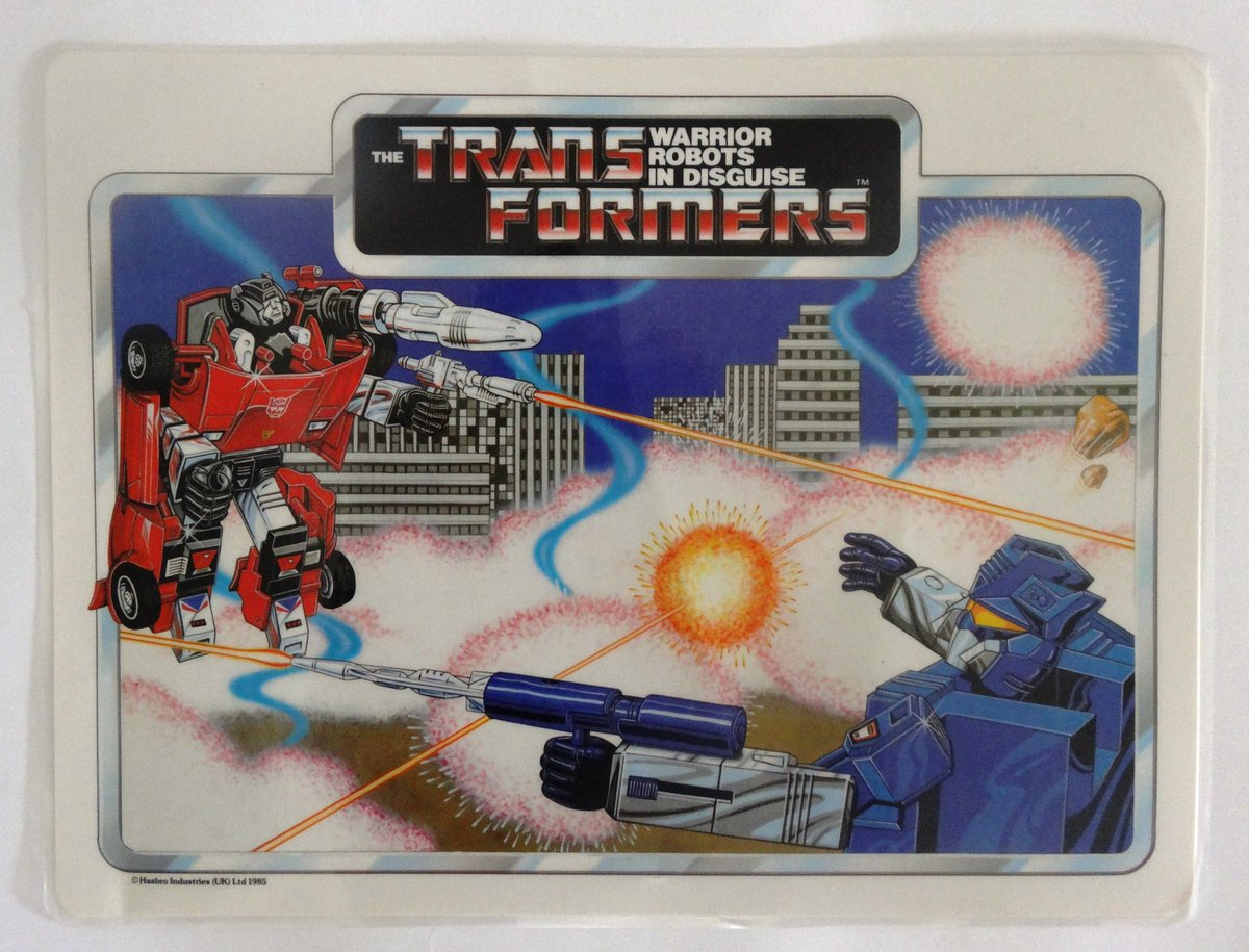 The remaining three placemats by the Icarus Company 1985/1986.   #transformers #g1