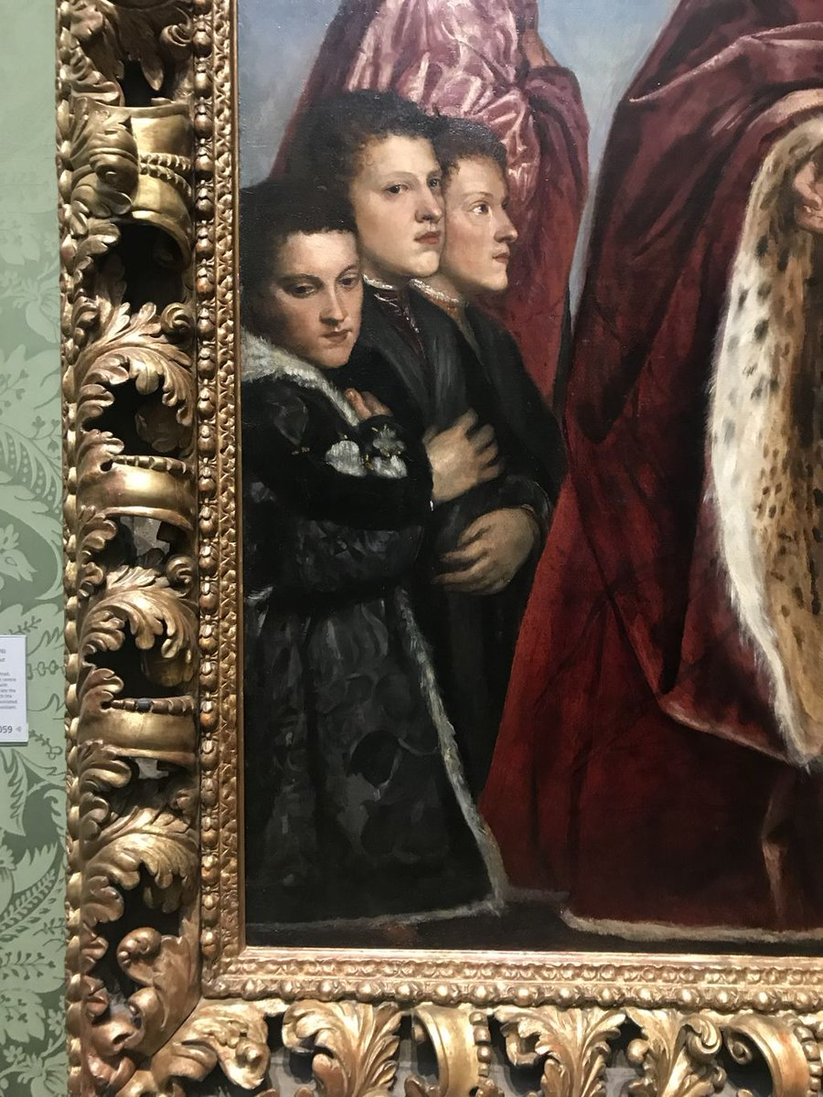 ....Not necessarily in terms of the quality of the actual painting, but rather than the lack of ability to create space between the figures. You can see clearly that the three boys appear to be almost growing out of the same torso.....