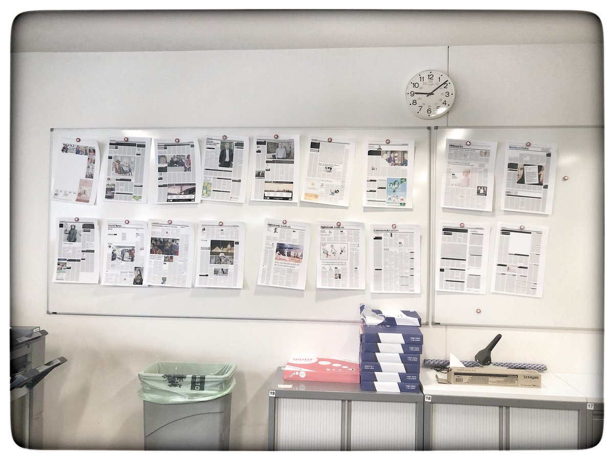 Whats today's @irishtimes looked like yesterday as a work in progress
