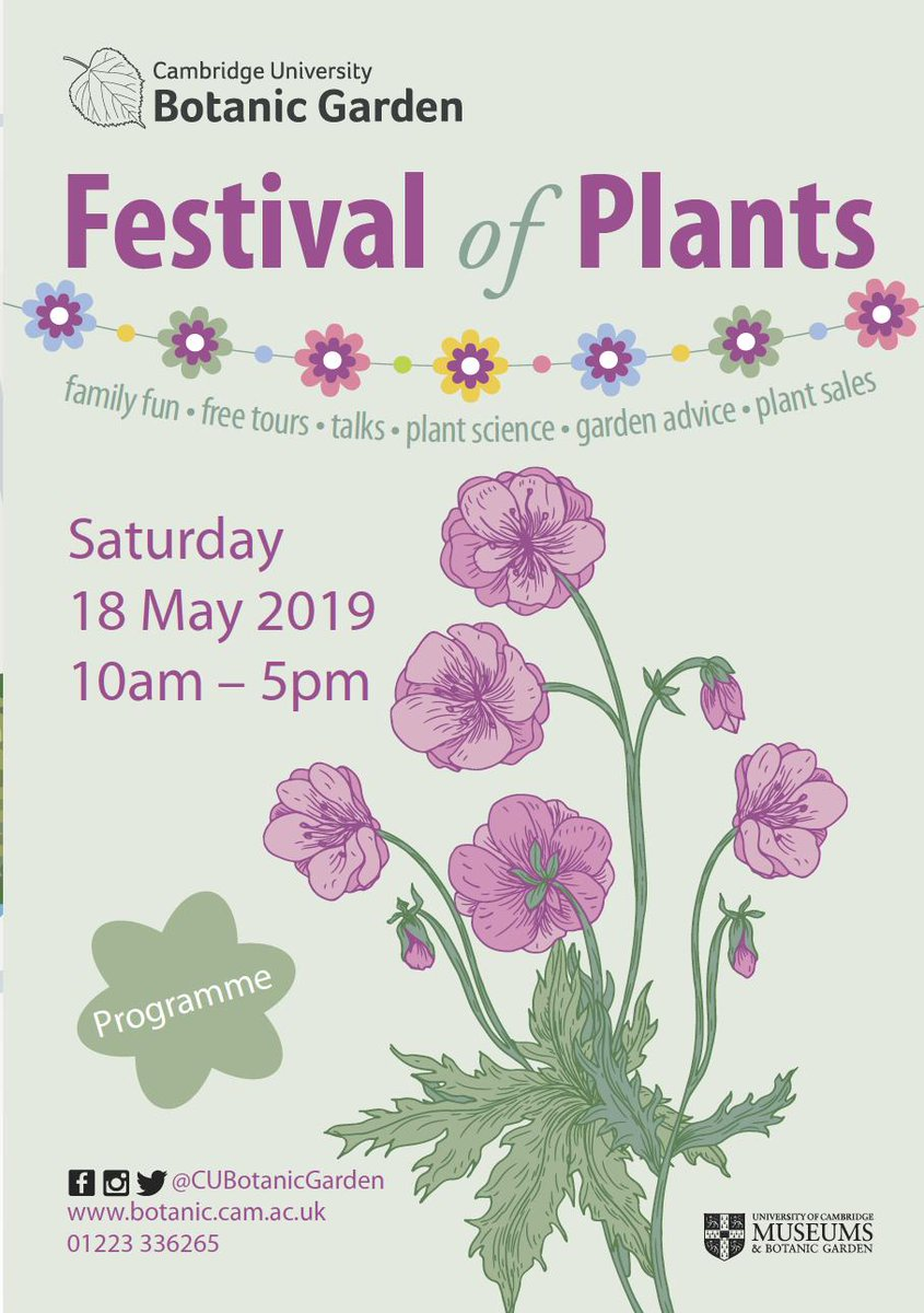 Today the @ensemblgenomes team are at the #FestivalOfPlants19 @CUBotanicGarden in #Cambridge  from 10am! Explore their #plantDNAtrail with @BrunoContrerasM and @cvfilippi 🐾🌻🌳🌾🍌🍫 #PlantDay @PlantDay18May #FoP2019