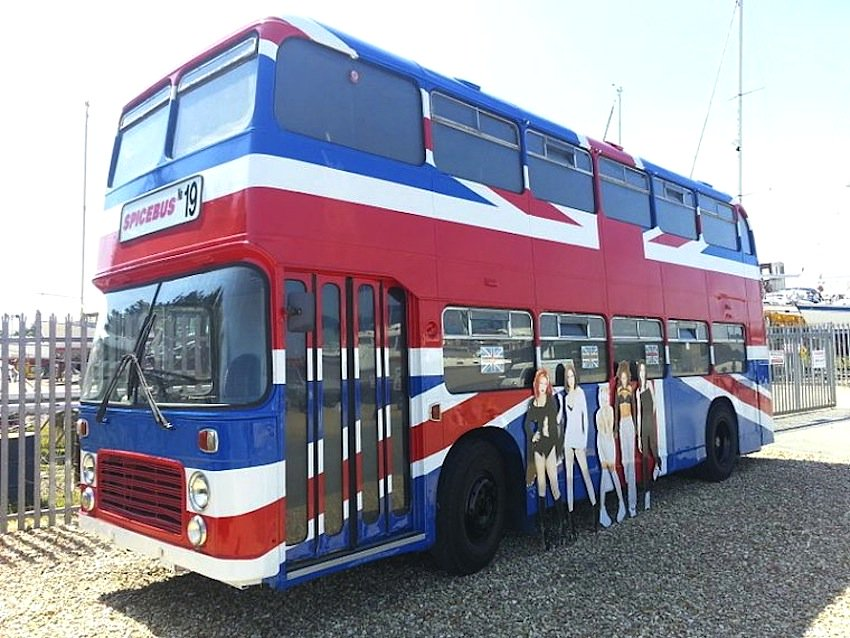 The Union Jack-painted Spice Girls bus from the 1997 movie Spice World.will be located in Market Square, Wembley Park, in London on 14 and 15 June, and is available to book through Airbnb.  #SpiceGirlsreuniontour https://t.co/p9UE6qlR9N