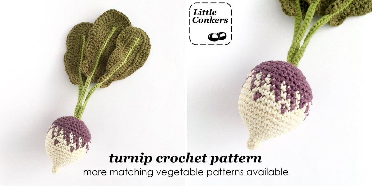 I updated my crochet turnip pattern this week!  If you're a previous purchaser and would like the updated version, please drop me a line.  http://littleconkers.co.uk/crochet-turnip-pattern/… #crafturday #crochepattern #turnippic.twitter.com/NUQNS24xxE