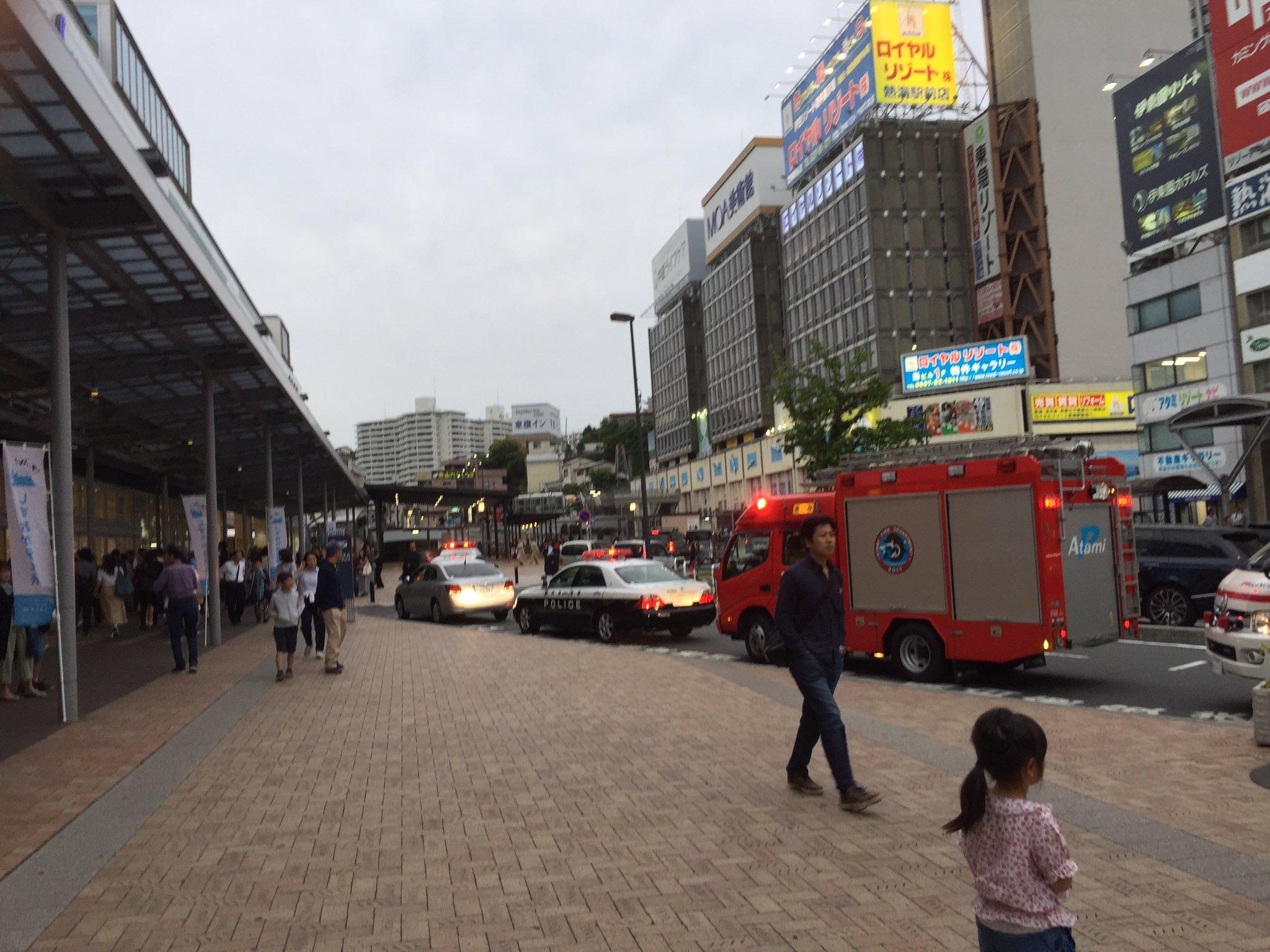 熱海駅で刃物女が暴れた事件現場の画像