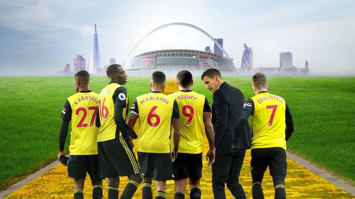 It's finally here 💥 @FACupFinal🏆 Day and with so much talk about firm favourites @ManCity let's not forget football has reminded us that anything is possible! @watfordfc dreaming of an #FACupfinal victory 💛 #ImagineIf #MCIWAT