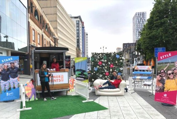 We've come to share some sunshine in #Cardiff city centre whilst the  plays hide & seek!Come find out about our packed #SummerOfEvents, take a selfie & win some goodies We're here until 5pm today #CMREvents
