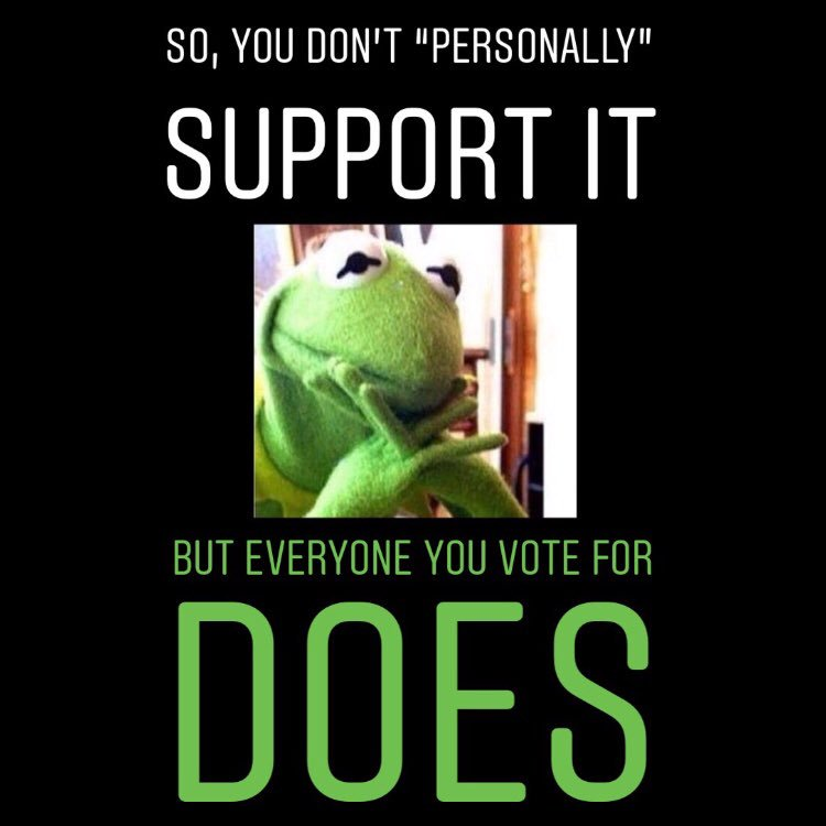 """Hypocritical #Voting! 🤷🏽♂️ If you #VOTE for a #Political #Party- you SUPPORT, ENDORSE, PROMOTE, HELP ADVANCE It's """"Platform""""! ALL of the """"Platform"""". PERIOD. 🏛😐 #sad #sadquotes #pride #proud #orgullo #orgulloso #гордость #гордый #自豪 #驕傲 #Stolz #誇り #誇りに思う #자부심 #교만한"""