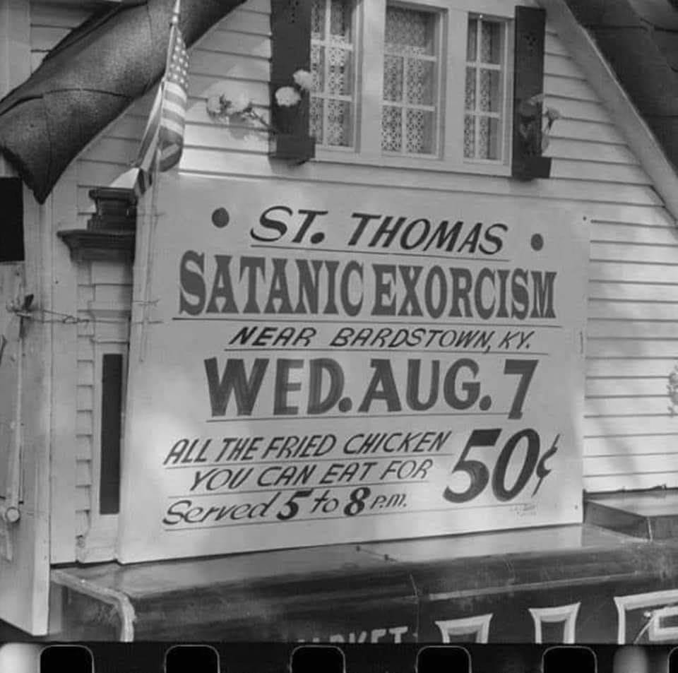 test Twitter Media - RT @putmyspellonyou: Come for the exorcism, stay for the chicken. https://t.co/OvFNjEo9B5