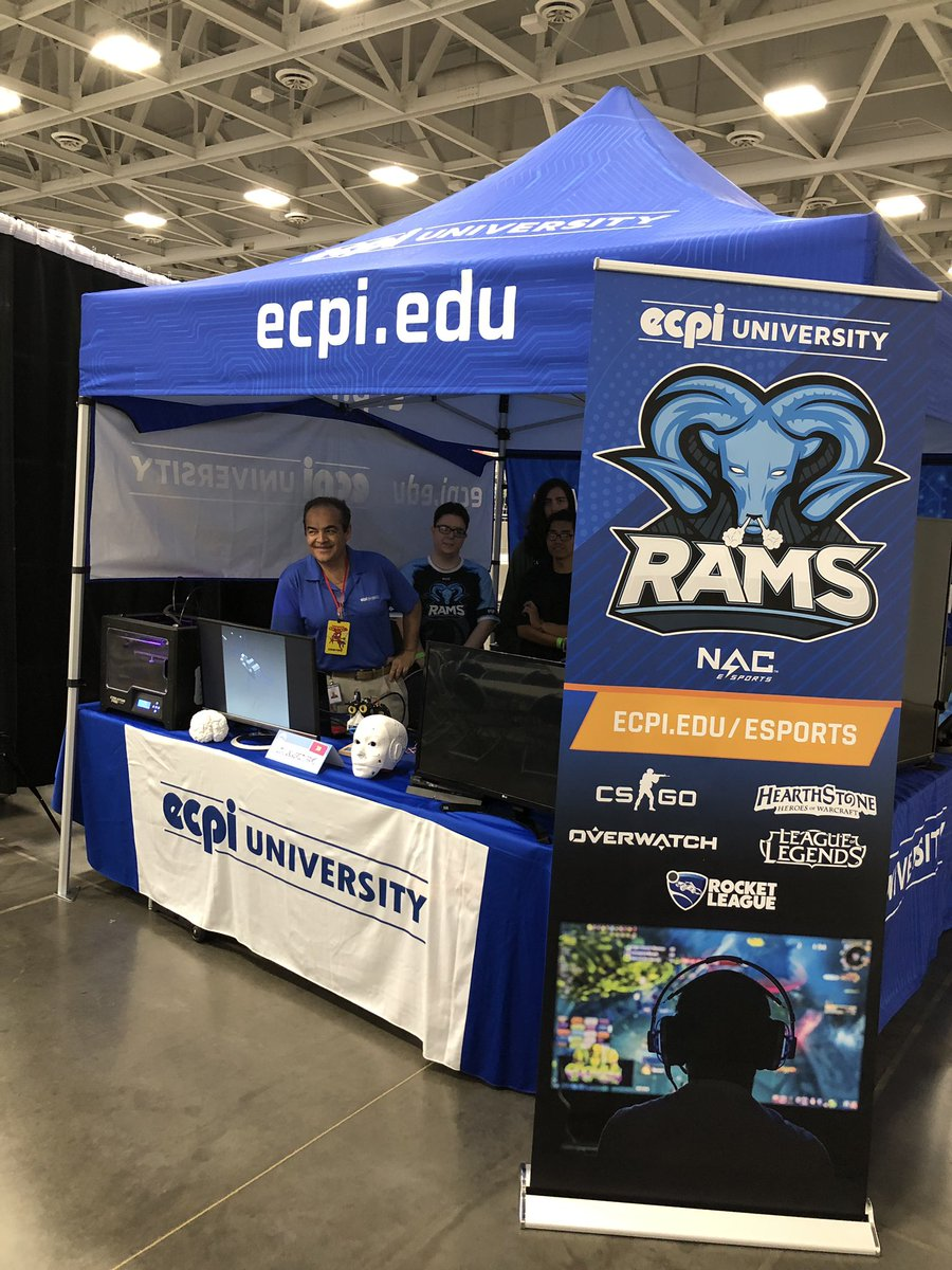 ECPI Rams our in force at Hampton Roads ComiCon!