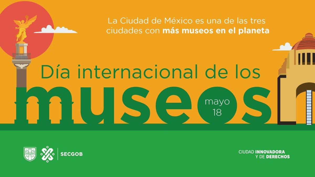 #Hoy en el #DíaInternacionalDeLosMuseos visita alguno de los que tiene la Ciudad de México.