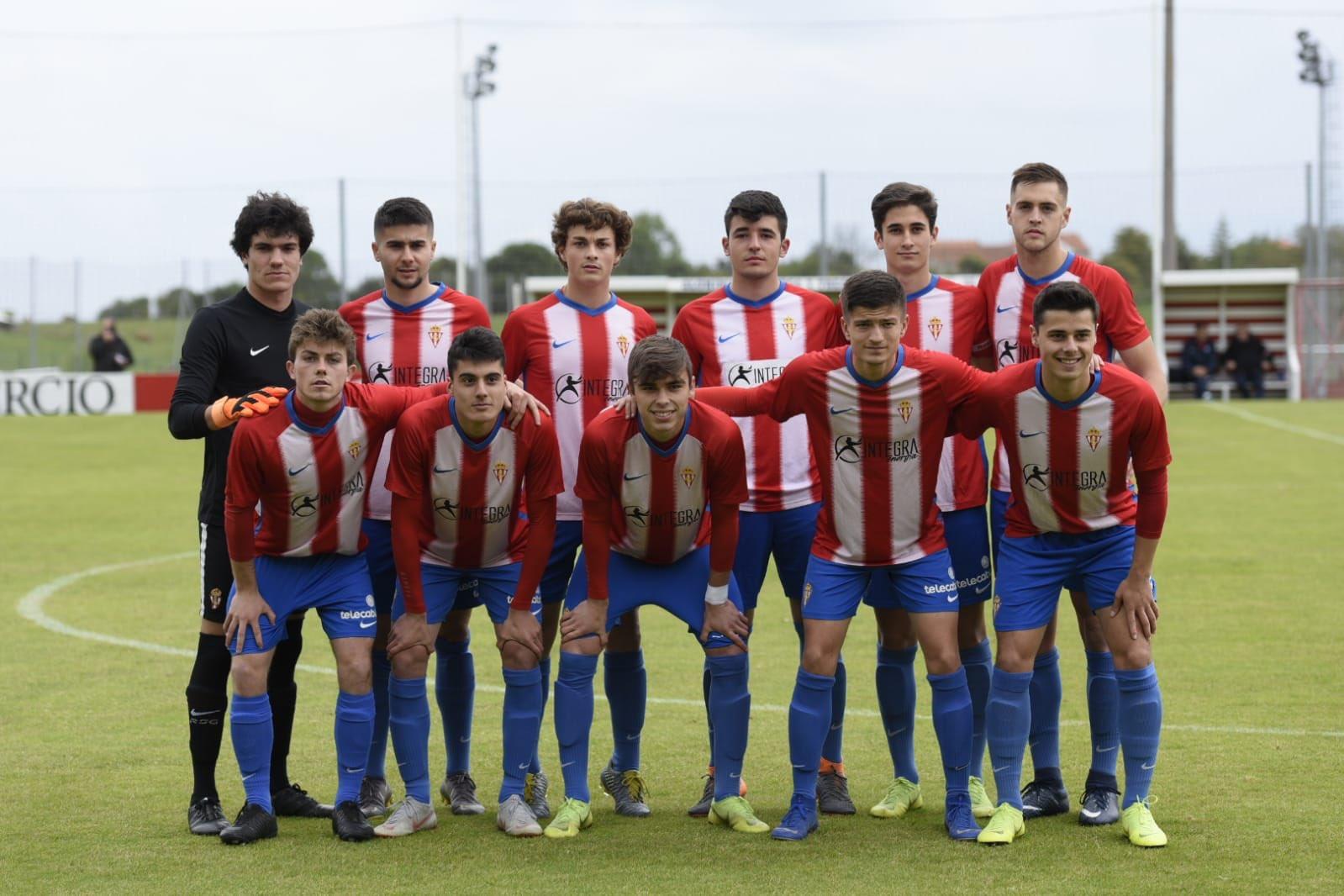 Once inicial del Sporting juvenil frente al Espanyol (Foto: RSG).