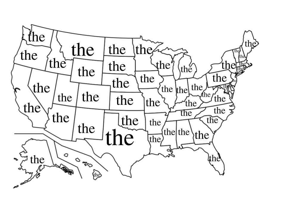 The most popular word in each state