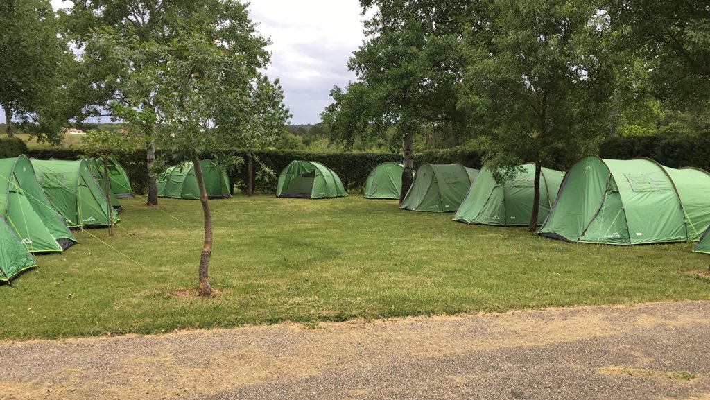 Tents are pitched and camp is nearly ready- awaiting the first group! #FranceResilienceCamp2019