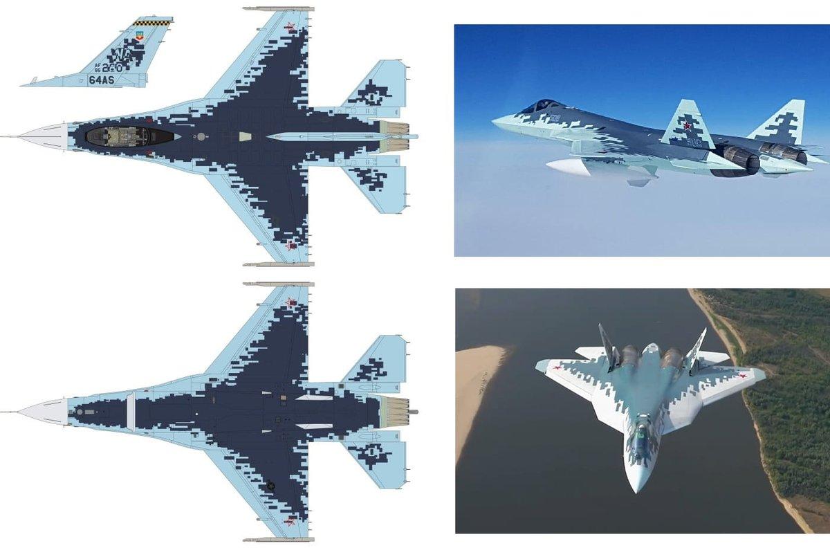 الكشف عن مقاتله F-16 بالتمويه الروسي  D62COV8XoAEO2p5