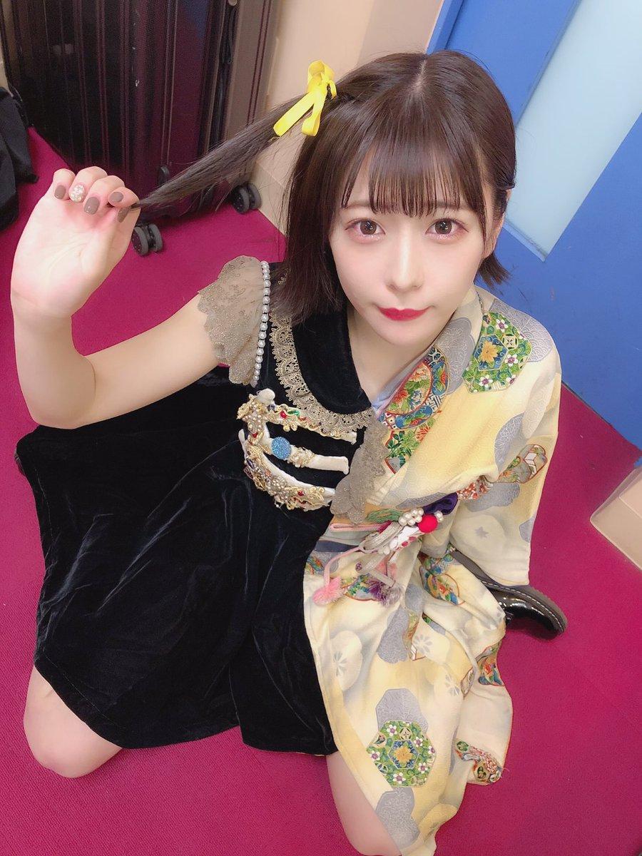 美優ちゃんが黄色いリボン貸してくれたにひひ#まねきケチャ