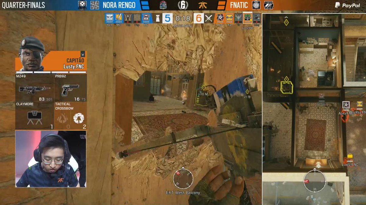 Image for the Tweet beginning: 😱😱😱 @Merieux_R6S #R6PL