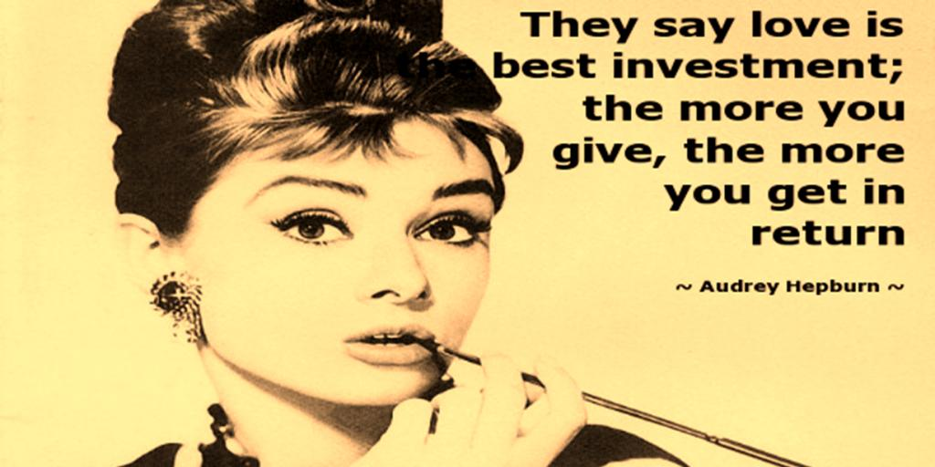 I'm fully invested in the Hepburn program. #love #quote #giving