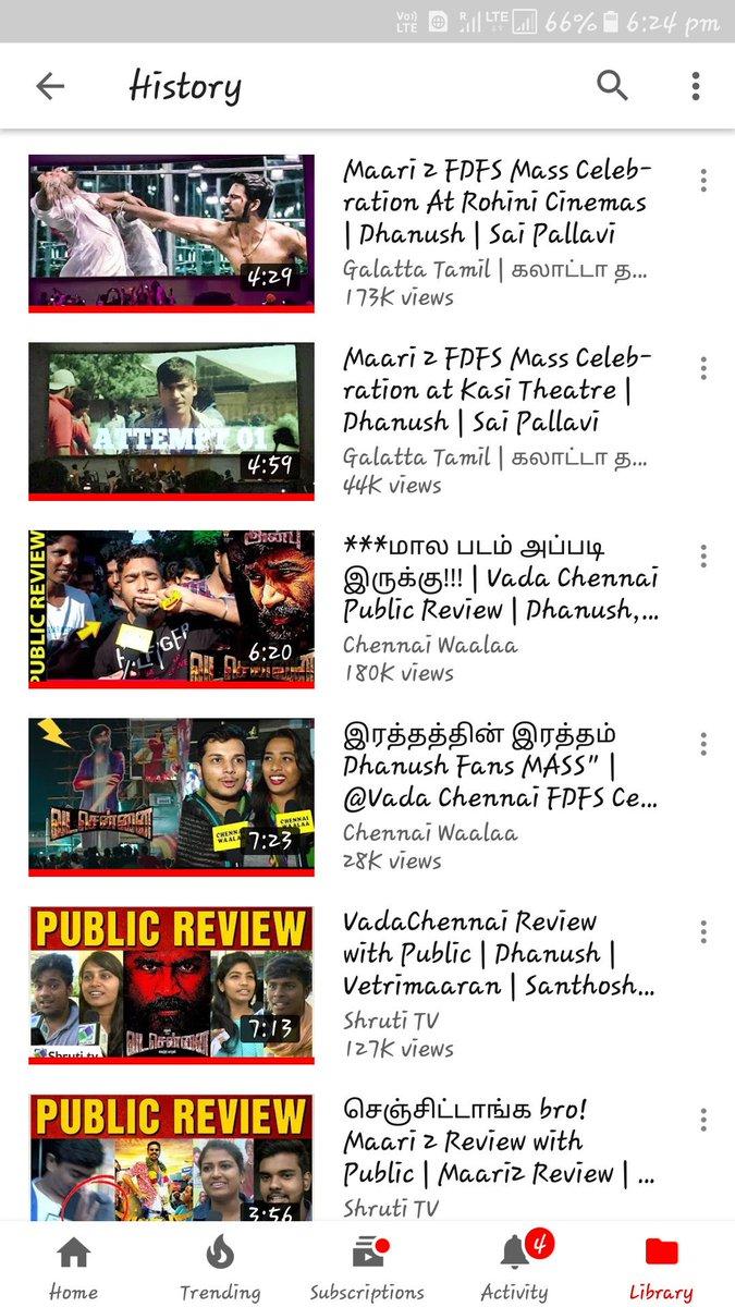 Thalaivaa @dhanushkraja  BELIEVE THIS !!!  Last Half an hour my #Youtube history ✌ Celebration Video la Eppo paakum Bodhu🌟🌟🌟💥 Next announcement  Dha waiting .... Seekiram Update Sollunga Thalaivaaaaa #Asuran #D39 #Enpt  @Dhanush__Sugu2 @rvasanth92 @dhanush_chow3