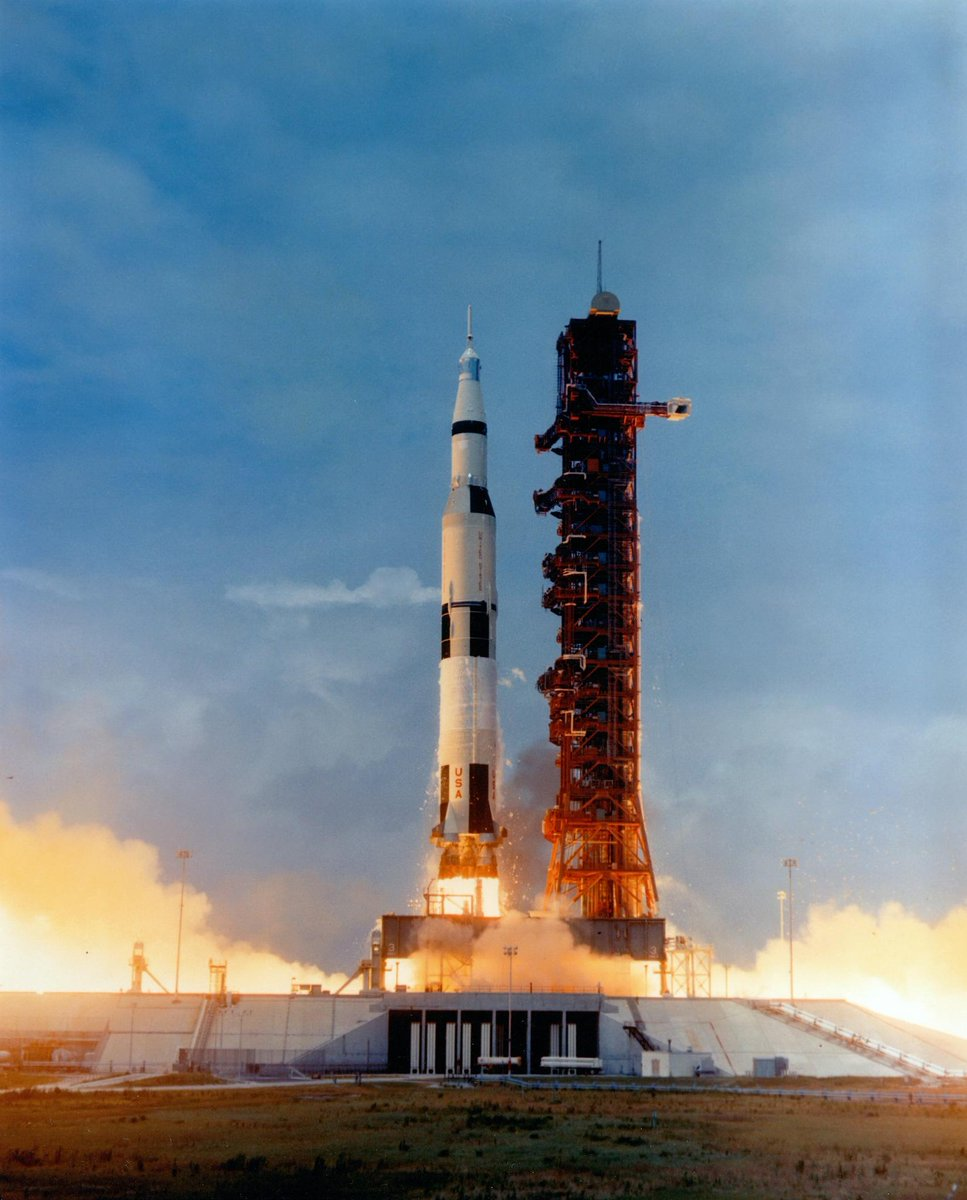 """50 years ago today, #Apollo10 astronauts Thomas Stafford, Gene Cernan and John Young launched from Launch Pad 39B. Apollo 10 was a complete """"dress rehearsal"""" Moon landing, without actually making contact with the lunar surface. #Apollo50 #OTD"""