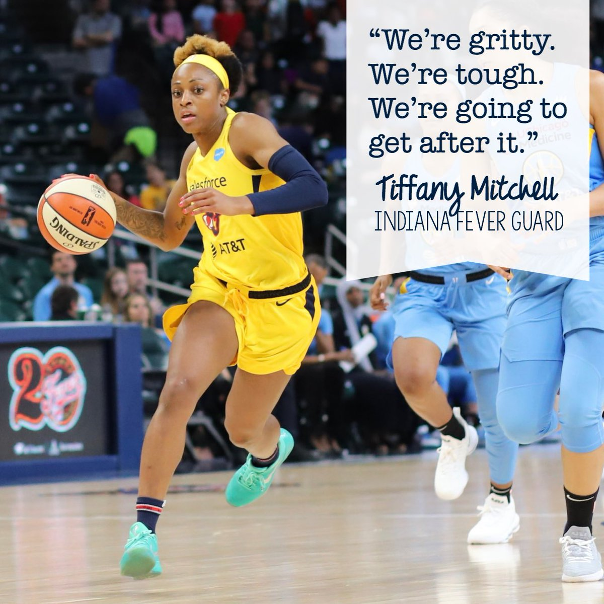 Player of the game @indianafever guard @TiffMitch25 in Thursday's preseason game against Chicago.  #wnba #indianafever #fever20 #allforlove