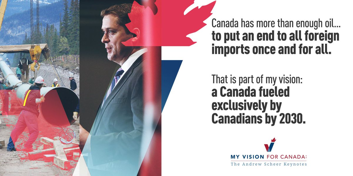 An energy independent Canada would be a Canada firing on all cylinders – across all sectors and regions.  We have more than enough Canadian oil – so let's put an end to all foreign oil imports once and for all.