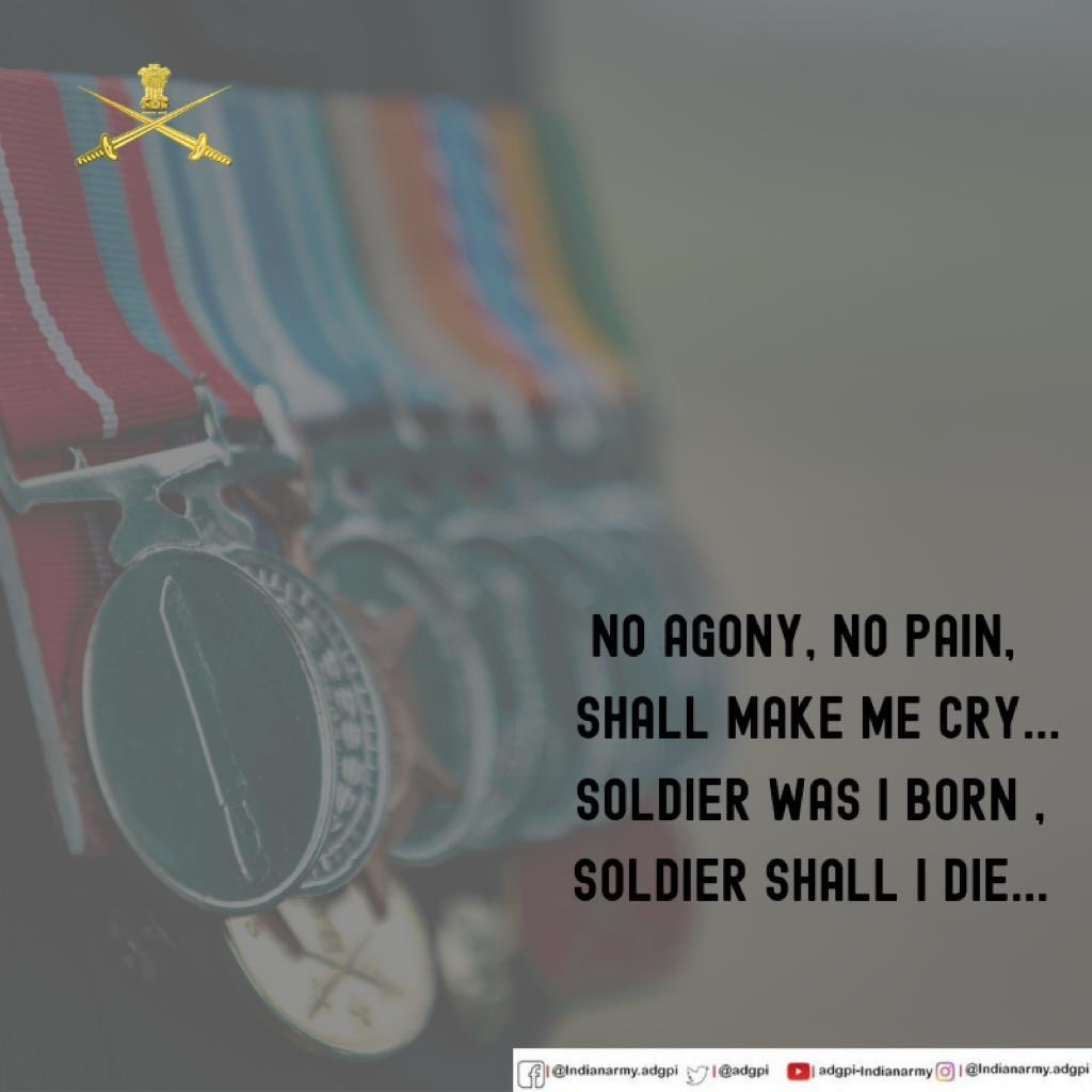 ADG PI - INDIAN ARMY's photo on #SaturdayThoughts