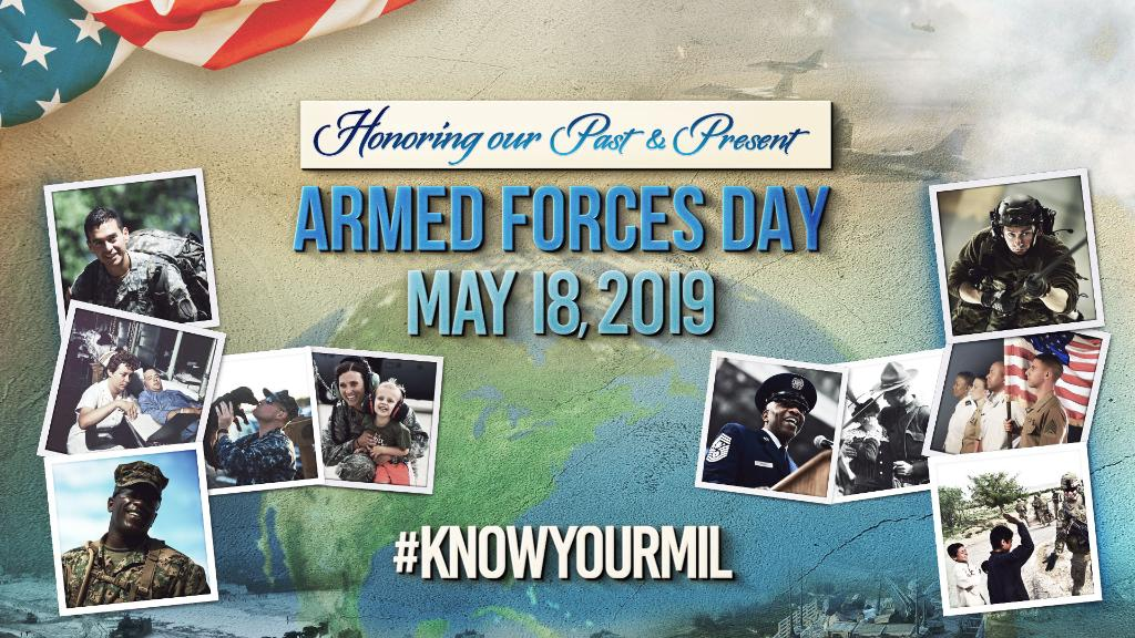 Today we celebrate #ArmedForcesDay! Thank you to all our fellow military branches and their service members who are dedicated to protecting and serving the United States of America.