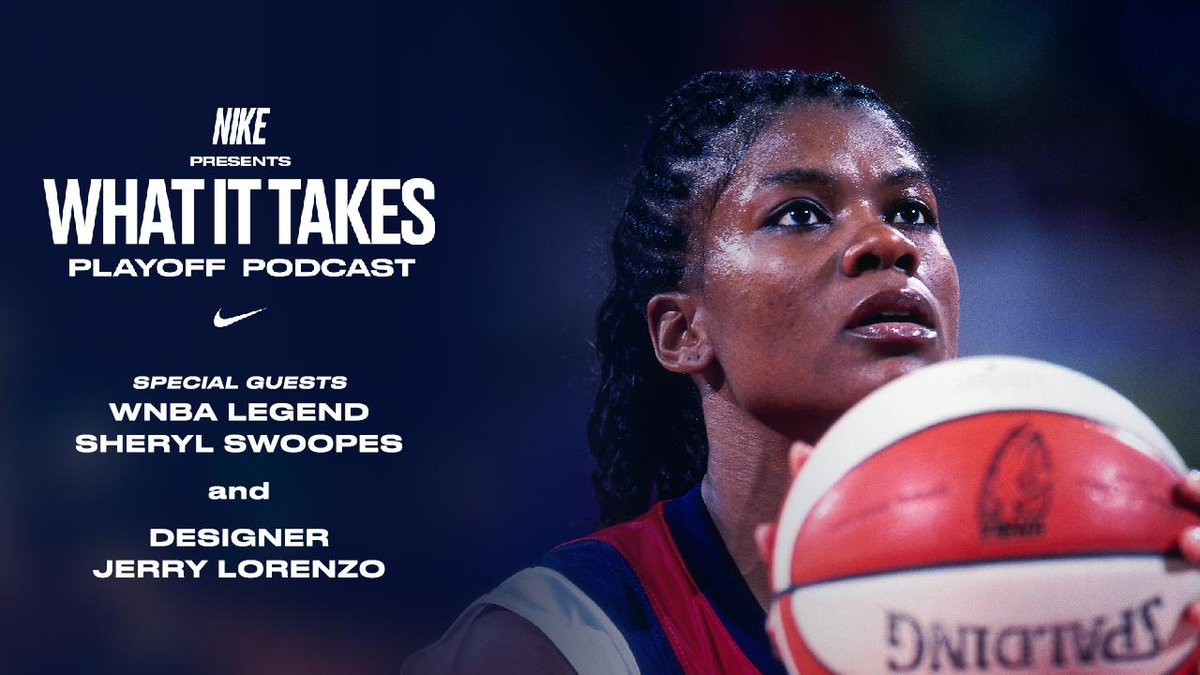 WNBA legend @sswoopes22 and designer @JERRYlorenzo talk about the impact of basketball on their careers.  LISTEN NOW: http://smarturl.it/WhatItTakesEp5 #wnba #nbaplayoffs #nike