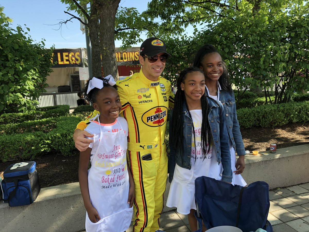 It's a good day when @h3lio buys the drinks at the annual Lemonade Day @IMS #INDYCAR