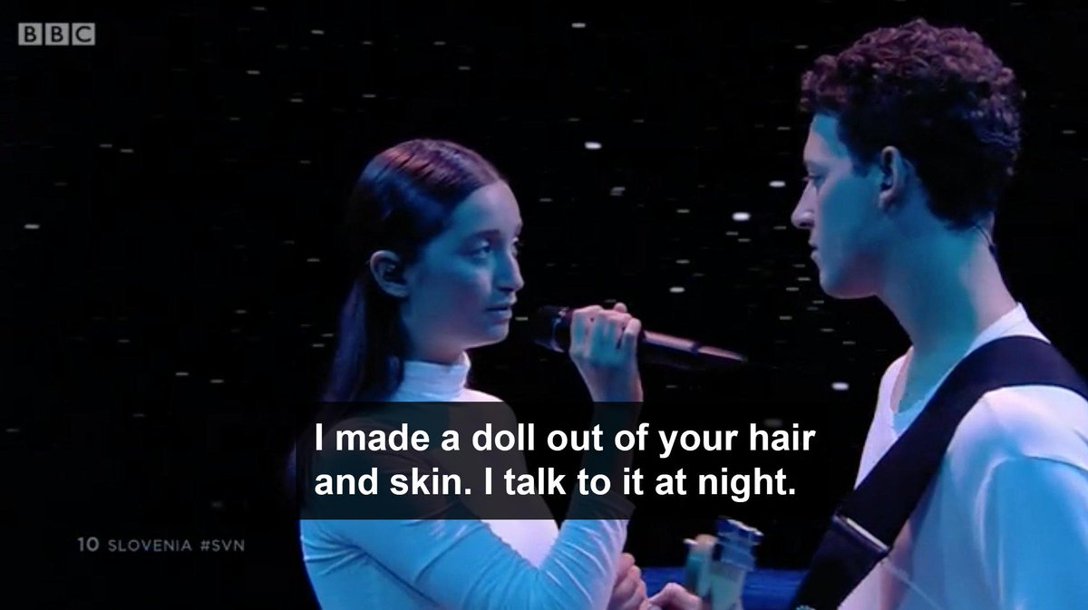 [turns on subtitles] [turns off subtitles] #Eurovision