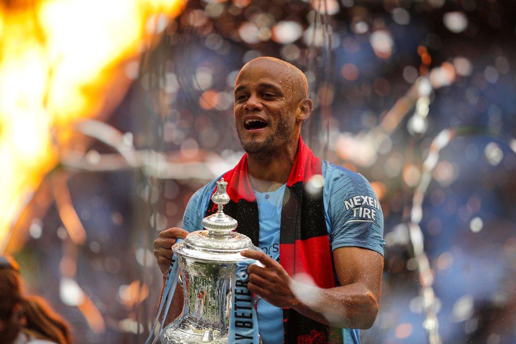 .@VincentKompany's trophy haul as a City player 💙  Premier League 🏆🏆🏆🏆 League Cup 🏆🏆🏆🏆 FA Cup 🏆🏆 Community Shield 🏆🏆   🔵 #mancity