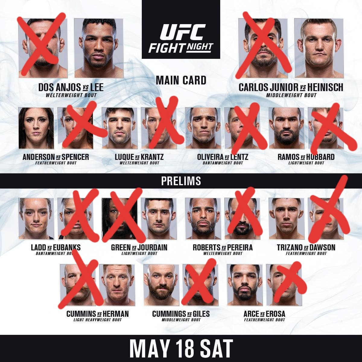 Here are our picks for @UFC Rochester 💪🏼💪🏼 Marc's in Red, Scott's in Blue 🔥🔥 who you got? 👊🏼🏴󠁧󠁢󠁳󠁣󠁴󠁿  #ufc #UFCRochester #UFC239 #UFC238 #UFCFightWeek #Podcast #Podcasting #PodernFamily #mma #newyork #rochester #rdavlee #dosanjosvlee #scotland #scottishmma