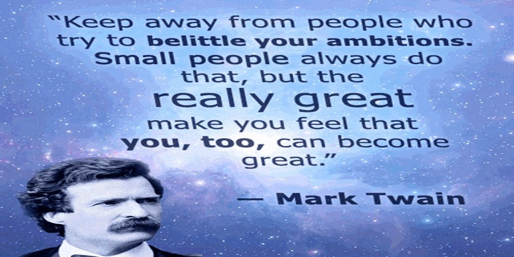 Mark Twain had more adventures than the people in his books #leadership #ambitiion #progress #growth