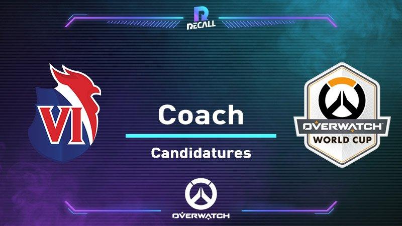 [ Overwatch ] Liste des candidats au poste de Coach :  - Quentin Sevegner &quot;@Wrath_OW&quot; - Richard Buscemi &quot;@PipouOW&quot; - Raymond Tea &quot;@KolstiGG&quot; - Gaucher Dylan &quot;@ow_Dylang&quot; - Thomas Lourenco &quot;@SweepzFr&quot; - Jeremy Monard &quot;@Handsa_OW&quot; - Julien Ducros &quot;@baemoN&quot;  #avecle6 #OWWC2019<br>http://pic.twitter.com/E8NdRm7ALL