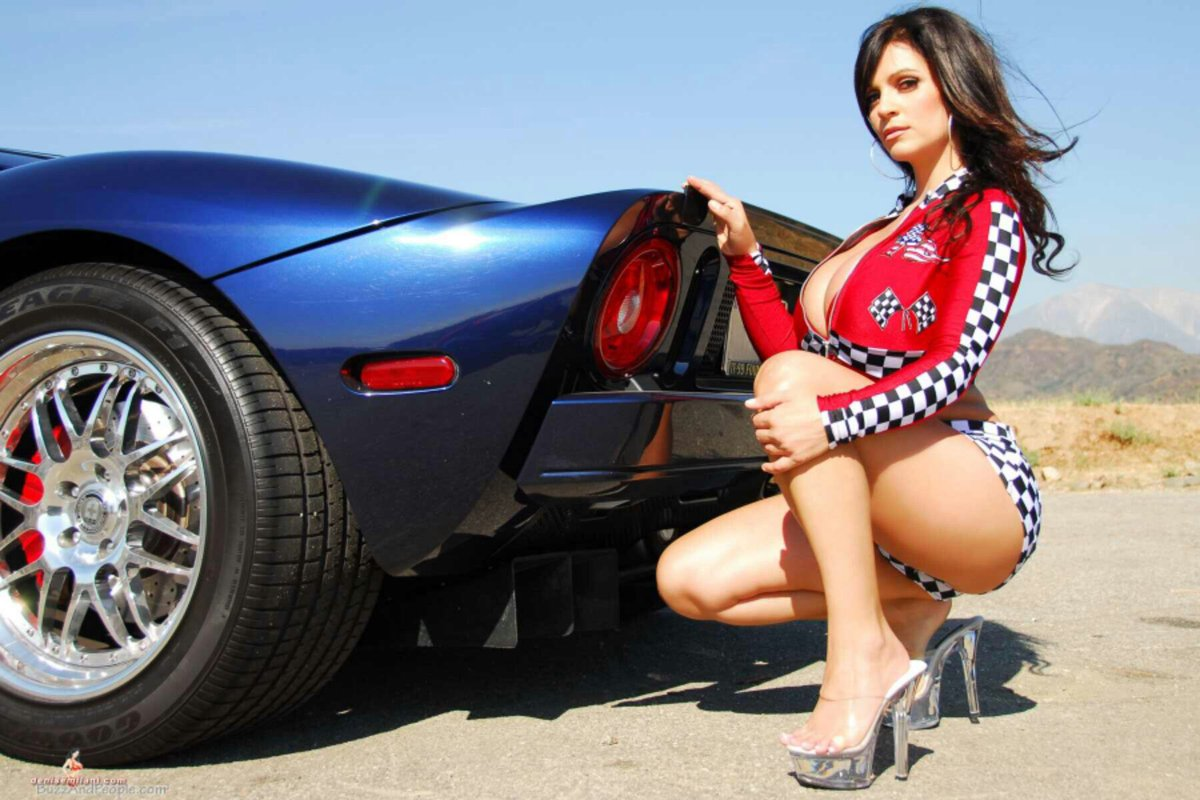 Free wallpaper cool girl and a cool car