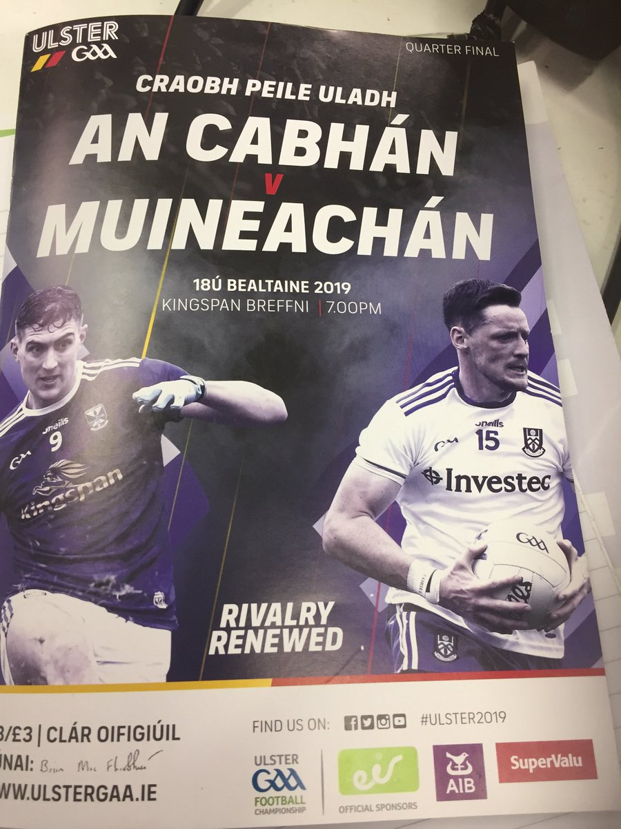 Best value #GAA match programme that I've seen for a while.. Credit to @UlsterGAA #Cavan v #Monaghan